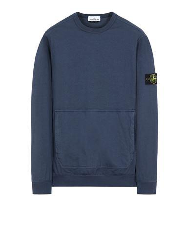 STONE ISLAND 60750 Sweatshirt Man Avio Blue EUR 225