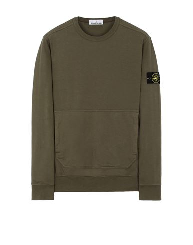 STONE ISLAND 60750 Sweatshirt Man Olive Green USD 221