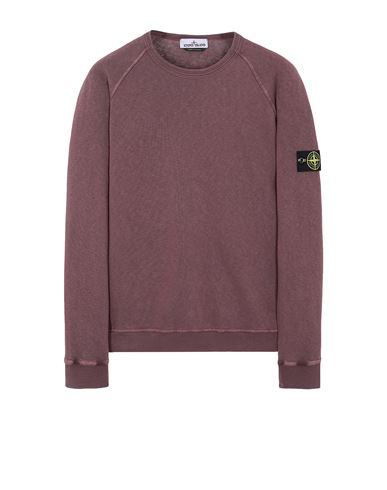 STONE ISLAND 66060 T.CO 'OLD' Sweatshirt Man Dark Burgundy EUR 223