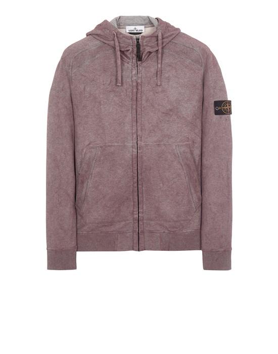 STONE ISLAND 62190 DUST COLOUR TREATMENT Sweatshirt Man Burgundy Melange