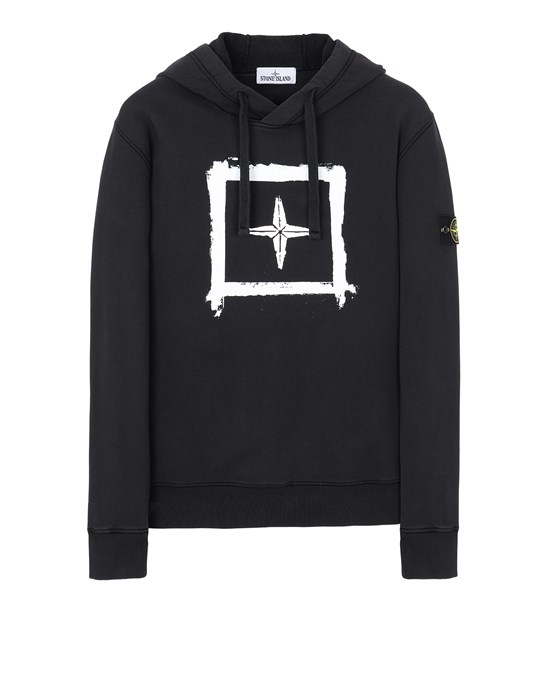 STONE ISLAND 65894 'STENCIL SWEATSHIRT'  Sweatshirt Man Black