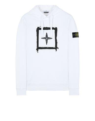 STONE ISLAND 65894 'STENCIL SWEATSHIRT'  Sweatshirt Man White USD 270