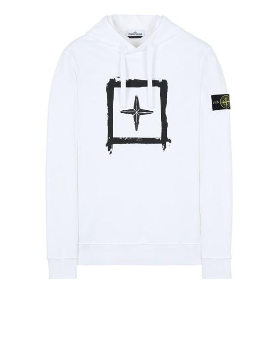 Sweatshirt Man 65894 'STENCIL SWEATSHIRT' Front STONE ISLAND