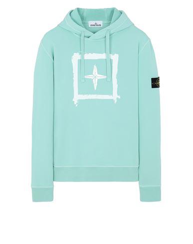 STONE ISLAND 65894 'STENCIL SWEATSHIRT'  Sweatshirt Man Aqua EUR 275