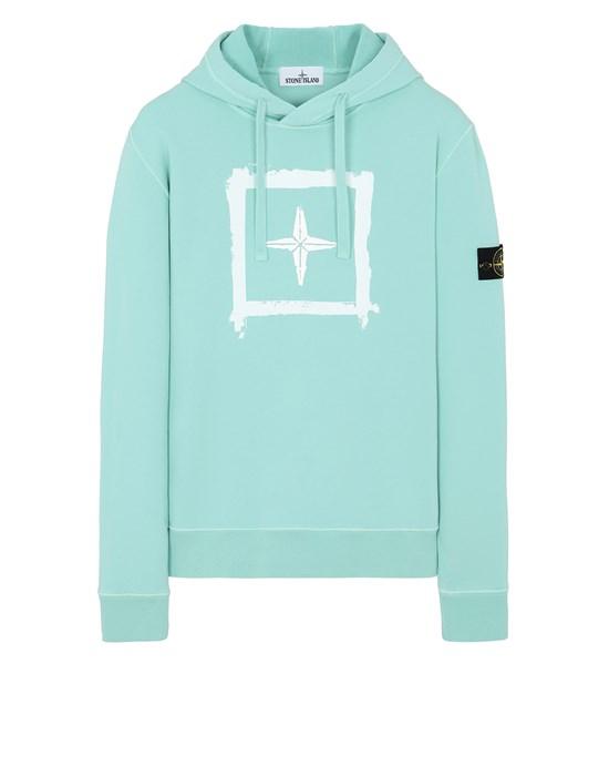 STONE ISLAND 65894 'STENCIL SWEATSHIRT'  Sweatshirt Man Aqua