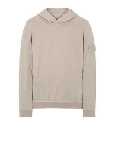 STONE ISLAND 653F3 GHOST PIECE_COTTON STRETCH FLEECE  Sweatshirt Man Beige EUR 335