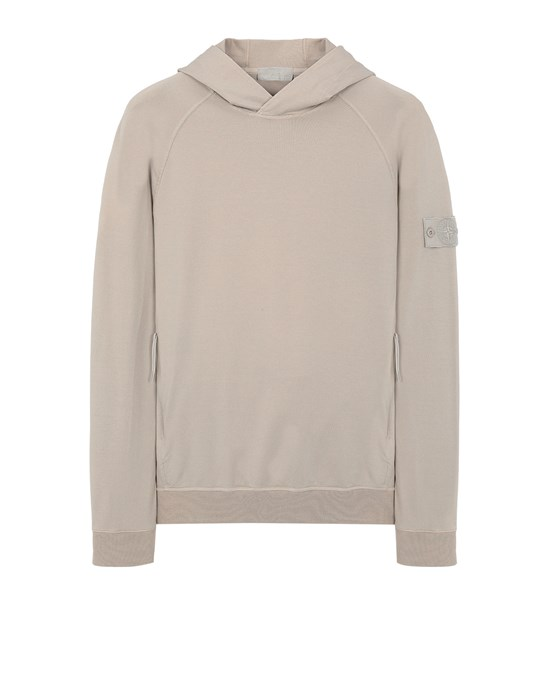 STONE ISLAND 653F3 GHOST PIECE_COTTON STRETCH FLEECE  Sweatshirt Man Beige