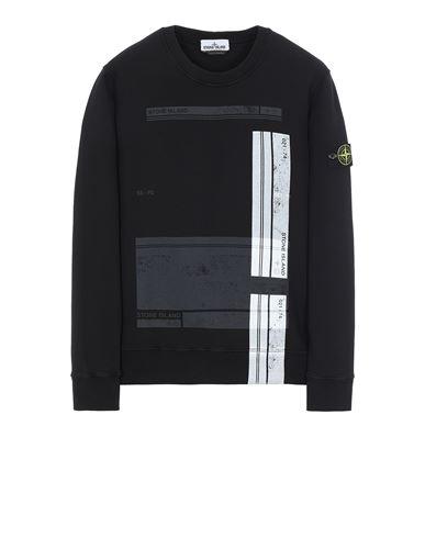 STONE ISLAND 63095 'BLOCK SWEATSHIRT'  Sweatshirt Man Black EUR 244