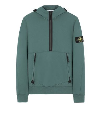 STONE ISLAND 60451 Sweatshirt Man Dark Teal Green EUR 349