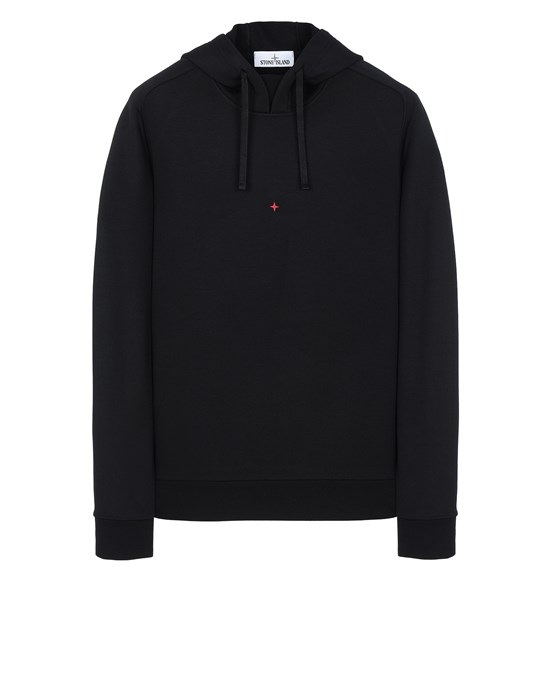 STONE ISLAND 617X2 STONE ISLAND MARINA<br>COTTON/POLYESTER SEAQUAL® YARN FLEECE  Sweatshirt Man Black
