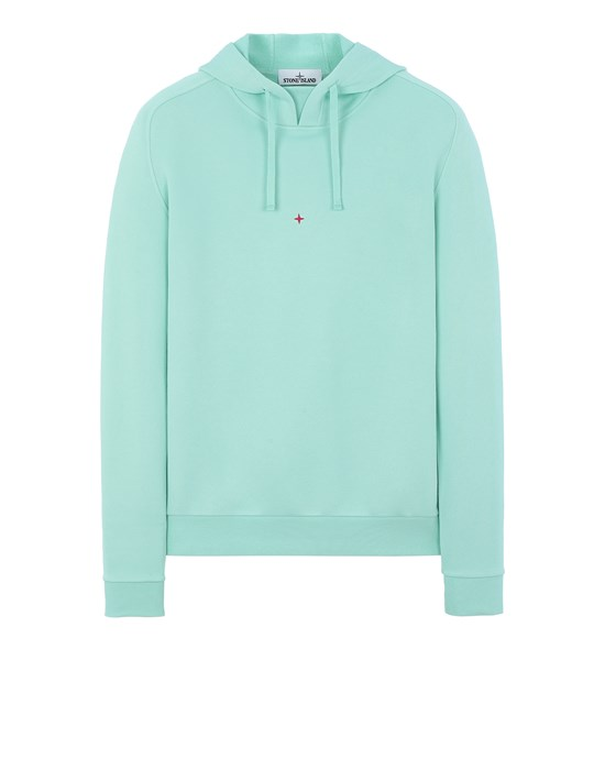 Sold out - Other colours available STONE ISLAND 617X2 STONE ISLAND MARINA<br>COTTON/POLYESTER SEAQUAL® YARN FLEECE  Sweatshirt Man Aqua