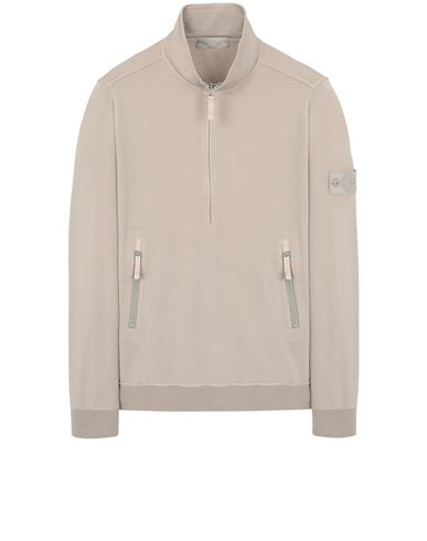 STONE ISLAND 654F3 GHOST PIECE_COTTON STRETCH FLEECE  Sweatshirt Man Beige EUR 349