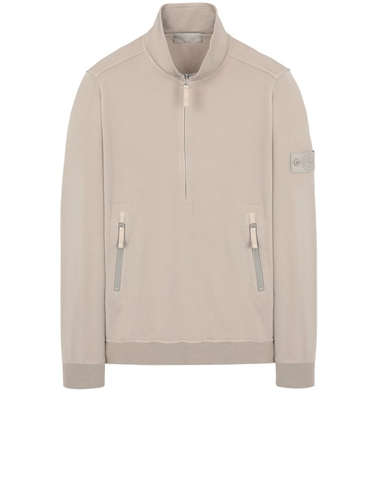 STONE ISLAND 654F3 GHOST PIECE_COTTON STRETCH FLEECE  Sweatshirt Man Beige