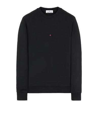 STONE ISLAND 657X2 STONE ISLAND MARINA<br>COTTON/POLYESTER SEAQUAL® YARN FLEECE Sweatshirt Man Black USD 365