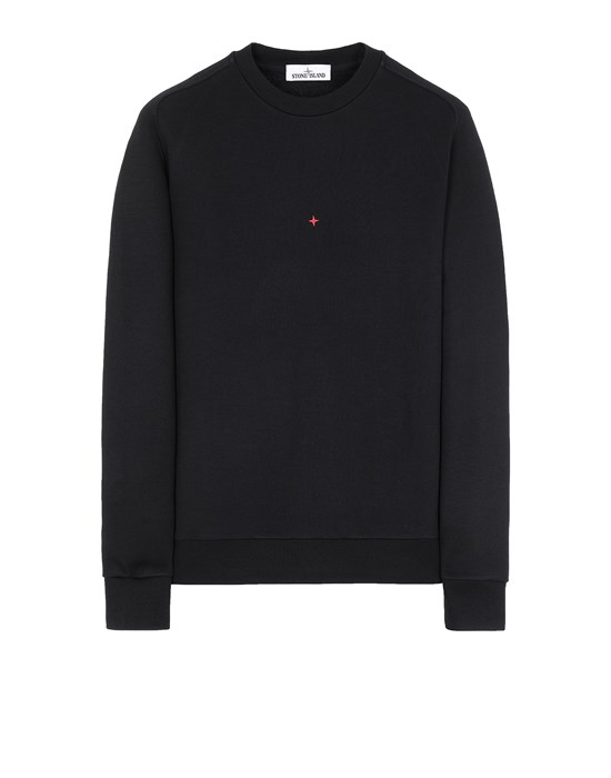 STONE ISLAND 657X2 STONE ISLAND MARINA<br>COTTON/POLYESTER SEAQUAL® YARN FLEECE Sweatshirt Man Black