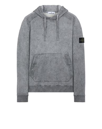 STONE ISLAND 62090 DUST COLOUR TREATMENT  Sweatshirt Man Black Melange EUR 309
