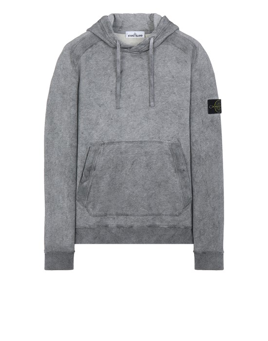 Sweatshirt Herr 62090 DUST COLOUR TREATMENT Front STONE ISLAND