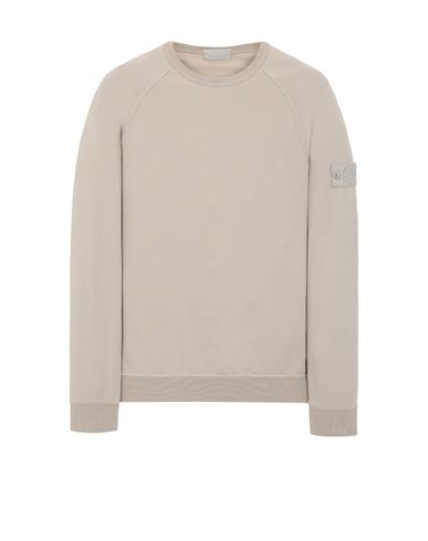 STONE ISLAND 659F3 GHOST PIECE_COTTON STRETCH FLEECE  Sweatshirt Man Beige EUR 269