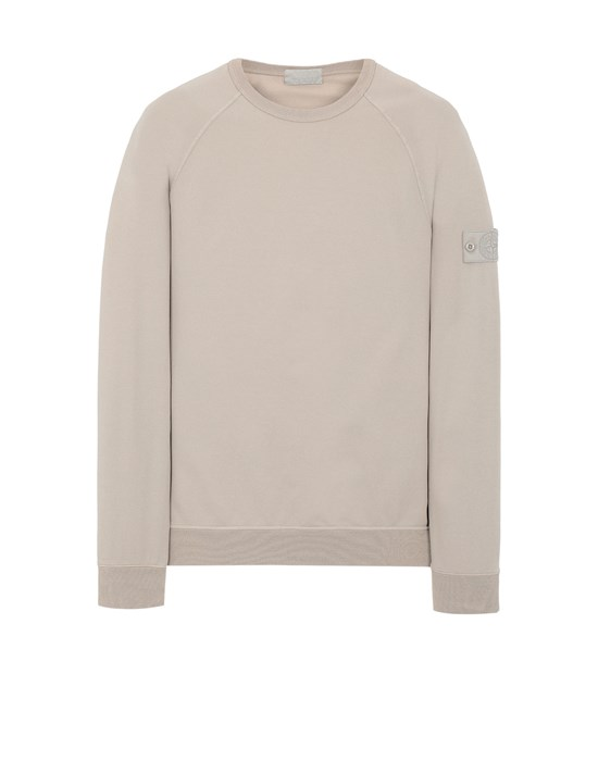 Sweatshirt Man 659F3 GHOST PIECE_COTTON STRETCH FLEECE Front STONE ISLAND