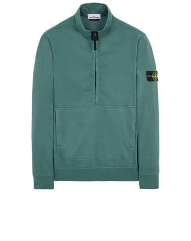 STONE ISLAND 63750 Sweatshirt Man Dark Teal Green USD 256