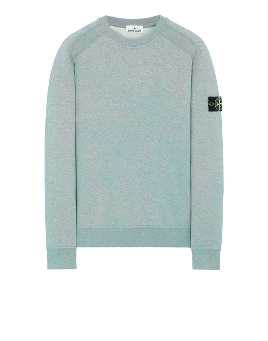 Sweatshirt Man 62290 DUST COLOUR TREATMENT Front STONE ISLAND