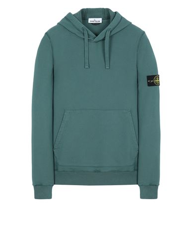 STONE ISLAND 64151 Sweatshirt Man Dark Teal Green USD 365