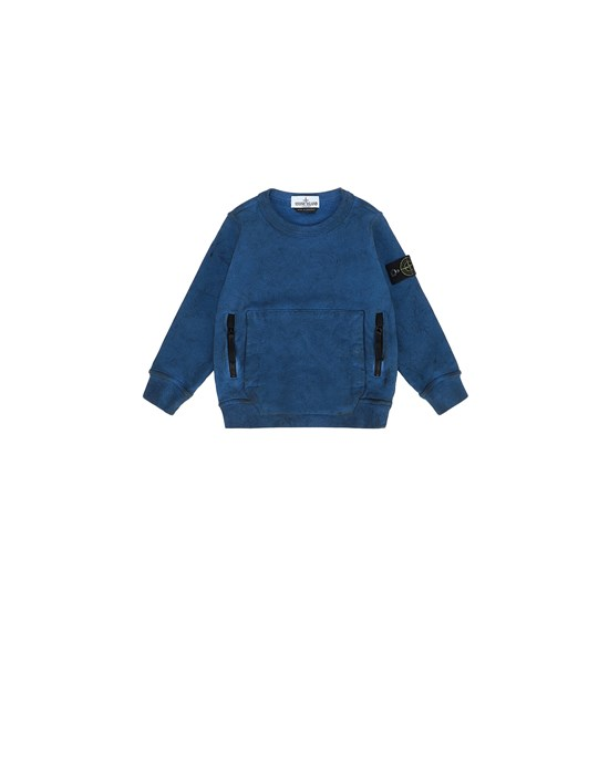 STONE ISLAND BABY 62241 DUST COLOUR Sweatshirt Man Periwinkle