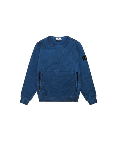 STONE ISLAND JUNIOR 62241 DUST COLOUR Sweatshirt Man Periwinkle USD 134