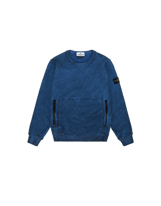 STONE ISLAND JUNIOR 62241 DUST COLOUR Sweatshirt Man Periwinkle