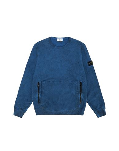 STONE ISLAND TEEN 62241 DUST COLOUR Sweatshirt Man Periwinkle EUR 193