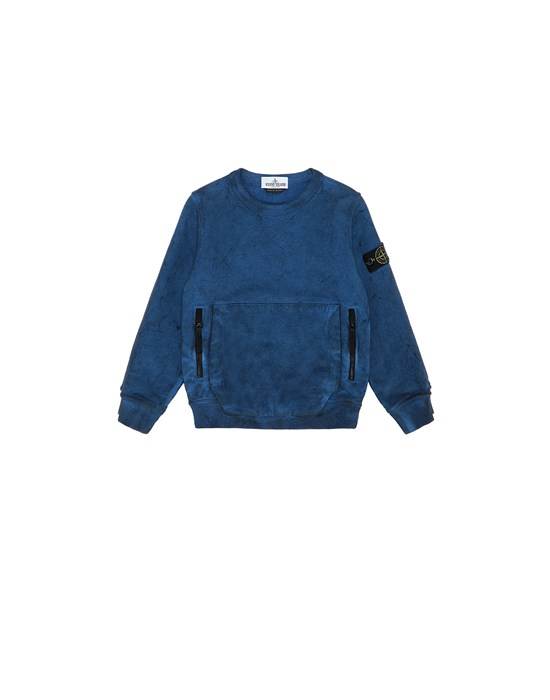 STONE ISLAND KIDS 62241 DUST COLOUR Sweatshirt Man Periwinkle