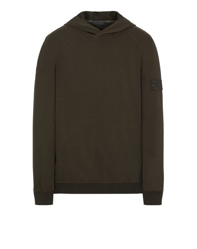 STONE ISLAND 653F3 GHOST PIECE_COTTON STRETCH FLEECE  Sweatshirt Man Military Green EUR 335