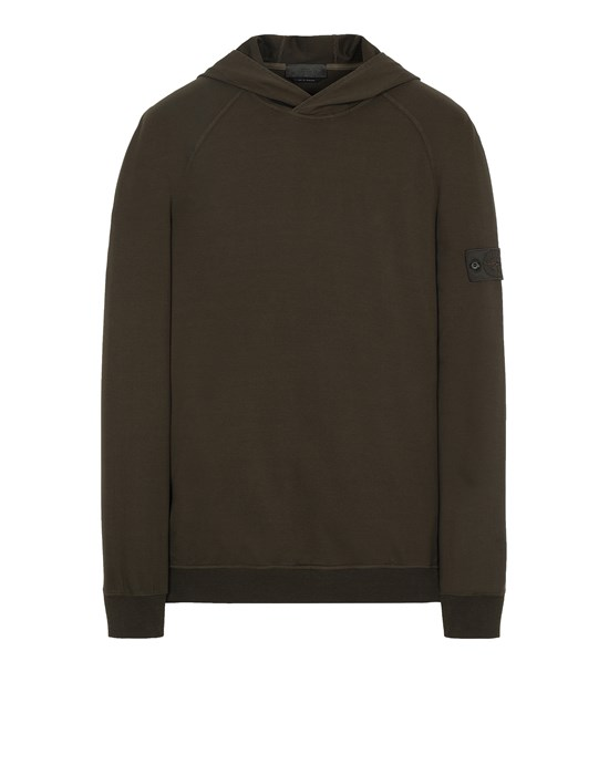 STONE ISLAND 653F3 GHOST PIECE_COTTON STRETCH FLEECE  Sweatshirt Man Military Green