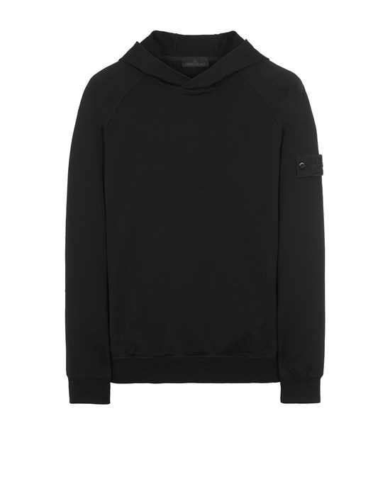 STONE ISLAND 653F3 GHOST PIECE_COTTON STRETCH FLEECE  Sweatshirt Man Black