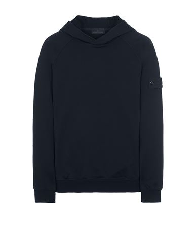 STONE ISLAND 653F3 GHOST PIECE_COTTON STRETCH FLEECE  Sweatshirt Man Dark blue USD 392
