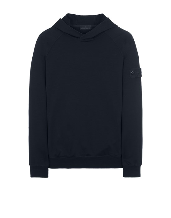 STONE ISLAND 653F3 GHOST PIECE_COTTON STRETCH FLEECE  스웻셔츠 남성 다크 블루