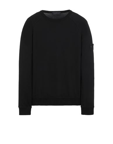 STONE ISLAND 659F3 GHOST PIECE_COTTON STRETCH FLEECE  Sweatshirt Man Black EUR 269