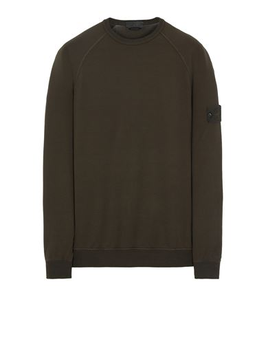 STONE ISLAND 659F3 GHOST PIECE_COTTON STRETCH FLEECE  Sweatshirt Man Military Green EUR 269