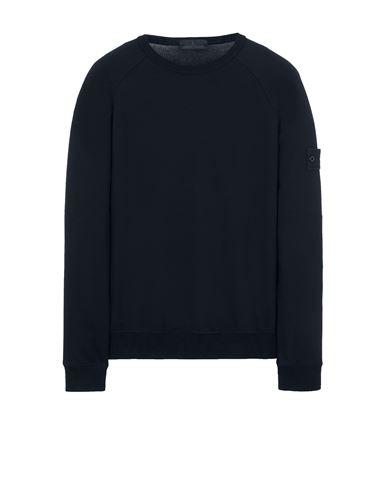 STONE ISLAND 659F3 GHOST PIECE_COTTON STRETCH FLEECE  Sweatshirt Man Blue EUR 283