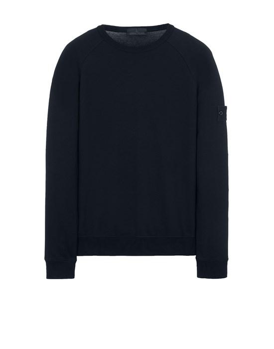 Sweatshirt Man 659F3 GHOST PIECE_COTTON STRETCH FLEECE Front STONE ISLAND