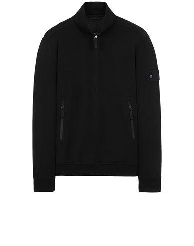 STONE ISLAND 654F3 GHOST PIECE_COTTON STRETCH FLEECE  Sweatshirt Man Black USD 350