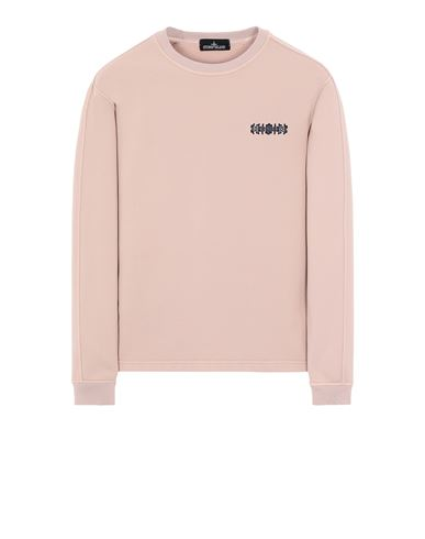 STONE ISLAND SHADOW PROJECT 60507 EMBROIDERED CREWNECK Sweatshirt Man Pastel pink EUR 295