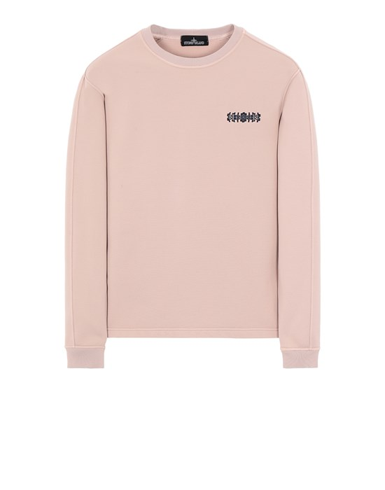 STONE ISLAND SHADOW PROJECT 60507 EMBROIDERED CREWNECK Felpa Uomo Rosa antico