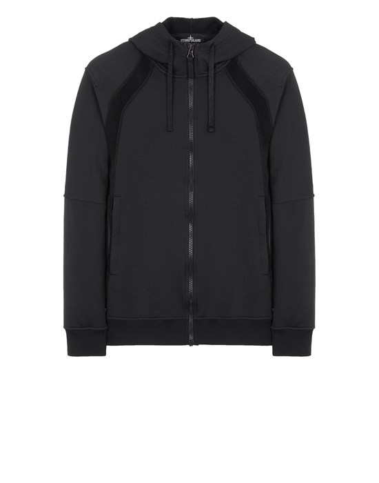 STONE ISLAND SHADOW PROJECT 60207 VENTED HOODIE JACKET Sweatshirt Man Black