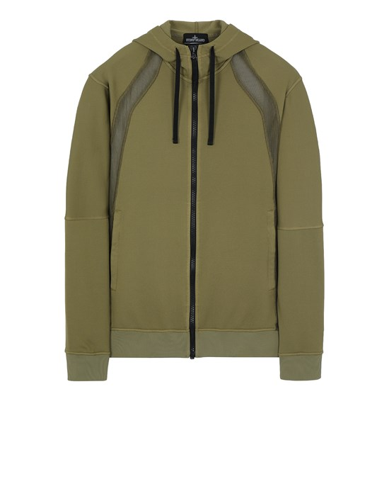 STONE ISLAND SHADOW PROJECT 60207 VENTED HOODIE JACKET Sweatshirt Man Olive Green