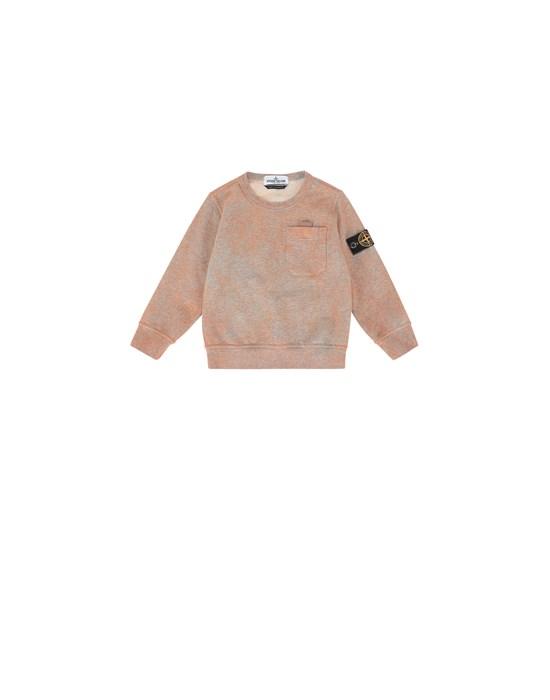STONE ISLAND JUNIOR 61144 DUST COLOUR TREATMENT Sweatshirt Man ORANGE MELANGE