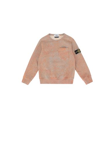 STONE ISLAND KIDS 61144 DUST COLOUR TREATMENT Sweatshirt Man ORANGE MELANGE EUR 164