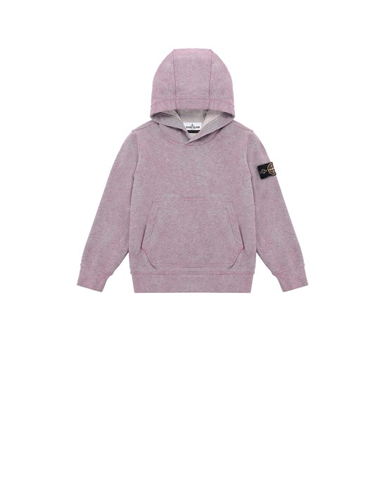 STONE ISLAND JUNIOR 61044 DUST COLOUR TREATMENT Sweatshirt Man Pink Quartz MELANGE
