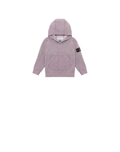 STONE ISLAND BABY 61044 DUST COLOUR TREATMENT Sweatshirt Man Pink Quartz MELANGE EUR 154