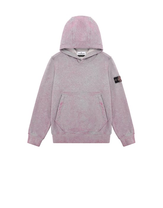 Sweatshirt Herr 61044 DUST COLOUR TREATMENT Front STONE ISLAND JUNIOR